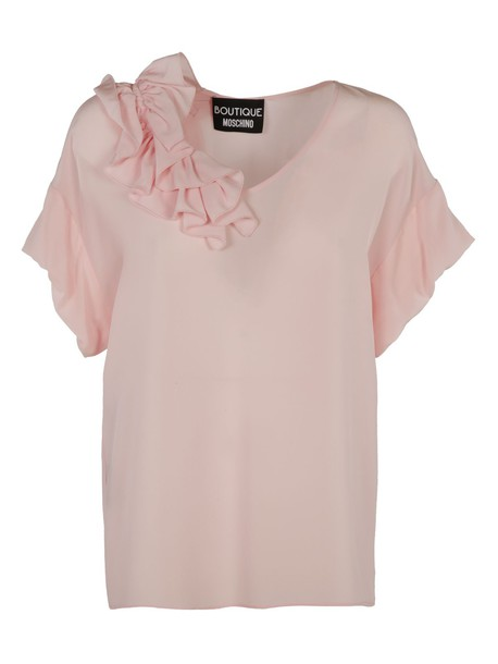 BOUTIQUE MOSCHINO blouse silk pink top