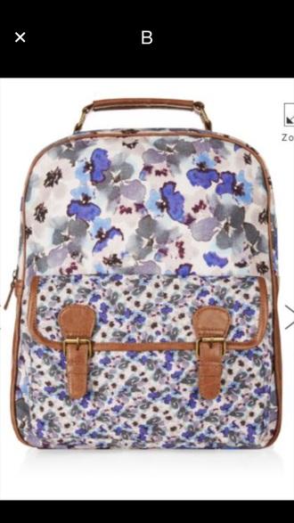 bag floral backpack