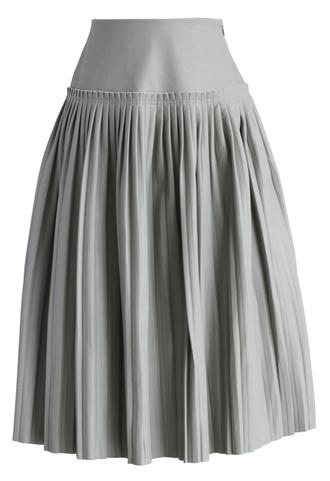 skirt modern crisp faux leather pleated skirt in grey chicwish faux leather pleated skirt grey skirt