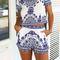 White navy visaya shorts top set mura boho on storenvy