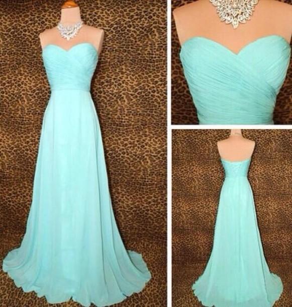 dress tiffany blue prom dress