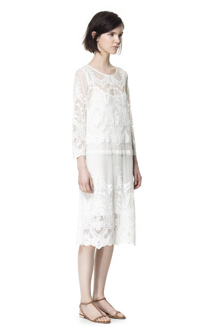 0a21db9e LONG LACE DRESS - Dresses - Woman | ZARA Canada