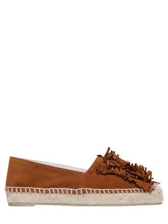 espadrilles suede tan shoes