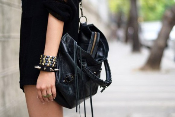 bag black bag purse leather bag leather purse over the shoulder purse