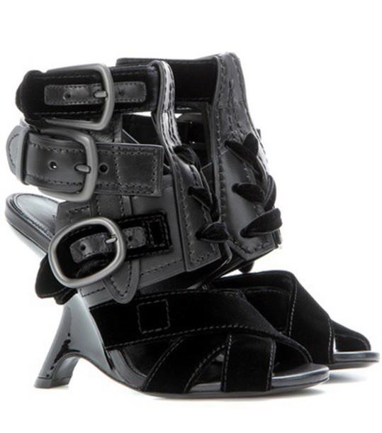 Tom Ford embellished sandals leather sandals leather black shoes