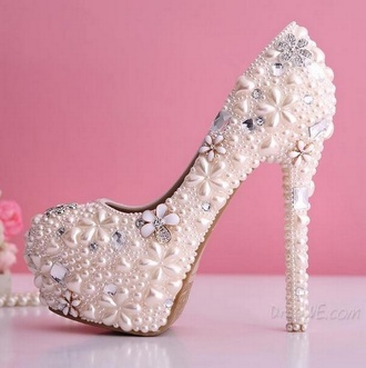 glitter shoes diamonds heels white wedding shoes flowers pearl newcrystalwave newcrystalwavebling shoes white heels jewels home accessory jacket
