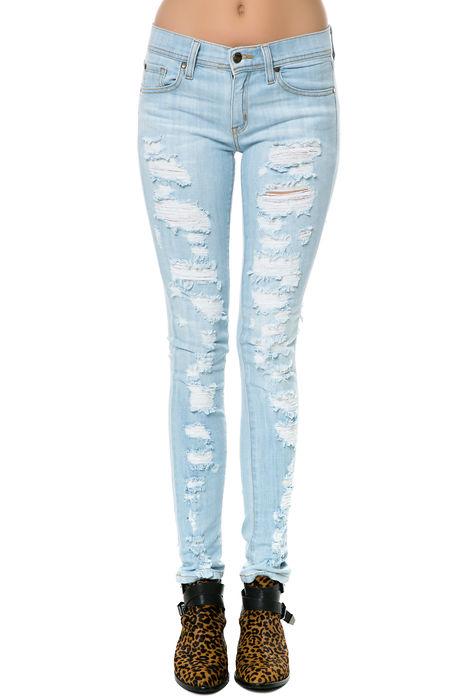 Pistola denim jeans audrey deconstructed skinny in slash blue