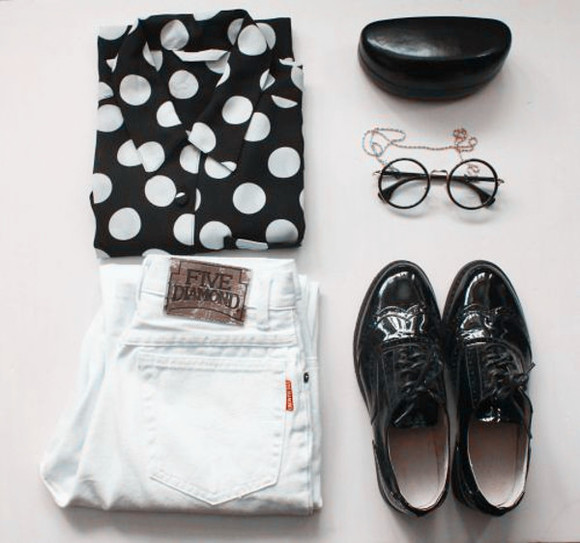 shoes brogues shirt glasses