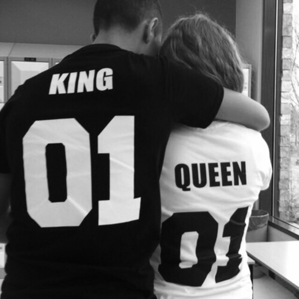 shirt black t-shirt white t-shirt t-shirt cute shirt relationship goals black and white etsy queen jersey number couples shirts couple matching couples king and queen king married boyfriend girlfriend cute cute top