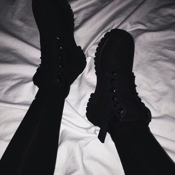 shoes, boots, black, winter outfits, cool, tumblr, fashion ...