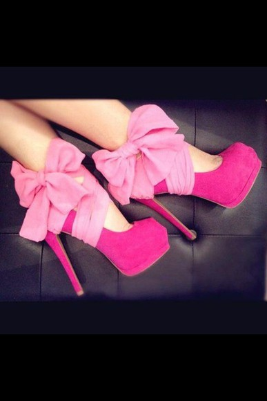 pink high heels shoes cute high heels