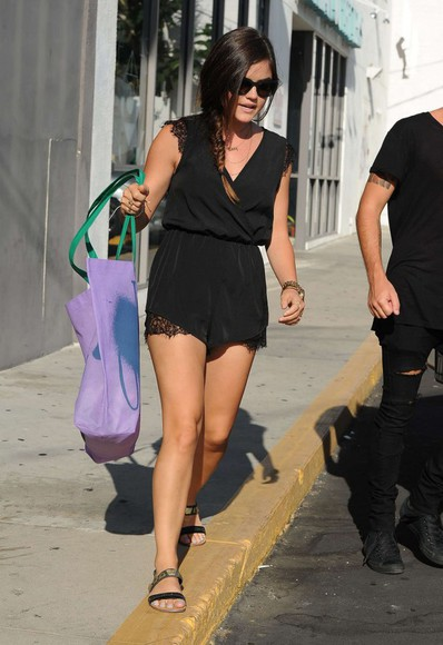 summer outfits romper lucy hale black