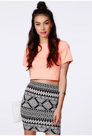Missguided Librada Aztec Mini Skirt