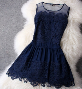 Navy Blue Short Dress