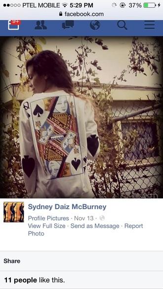 queen of spades queen shirts blouse queen cards