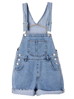 Light blue dungaree with pocket front