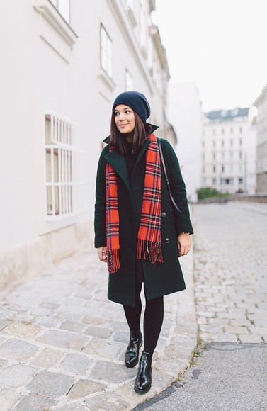 bag scarf blogger tartan dariadaria