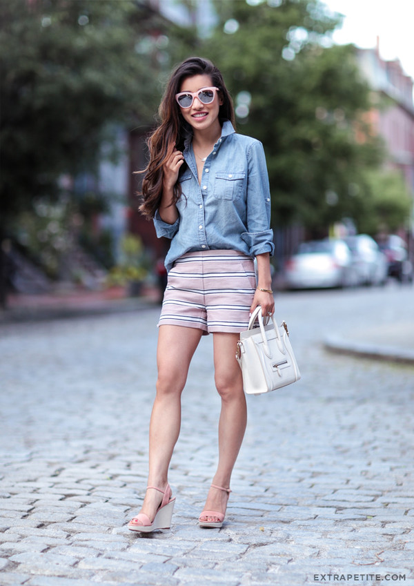 74585fb2 extra petite blogger shorts shirt bag sunglasses shoes jewels