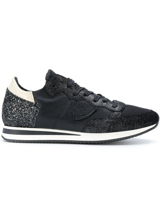 glitter women sneakers leather cotton black shoes