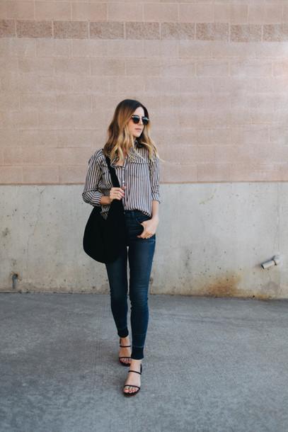 take aim blogger jeans shoes bag shirt