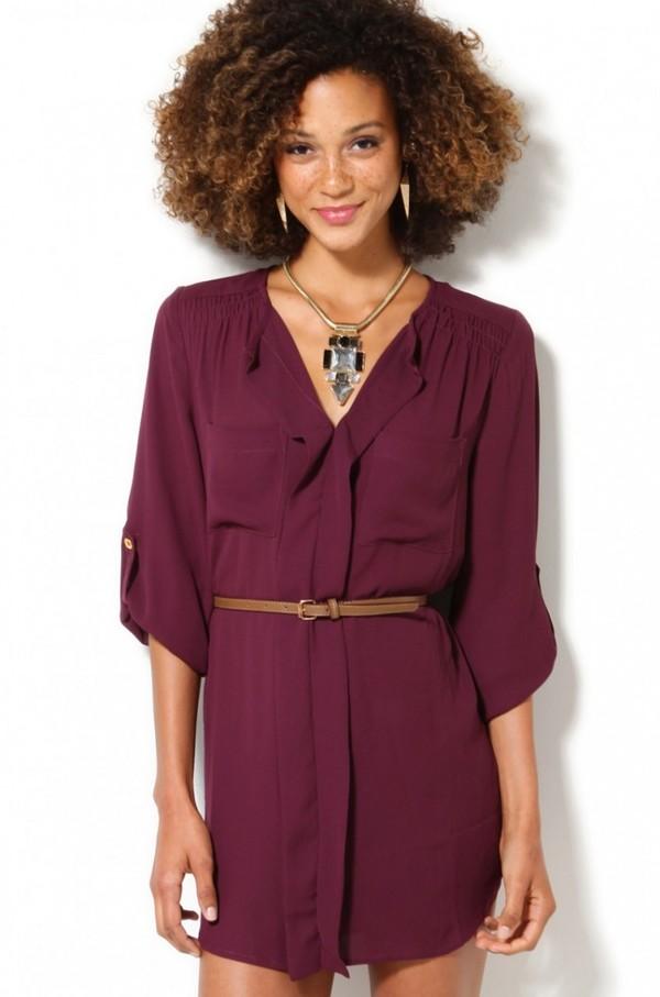 shirt, belted tunic, tunic, summer