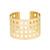 Macon | Cut Out Grid Detail Cuff Bracelet | Svelte Metals