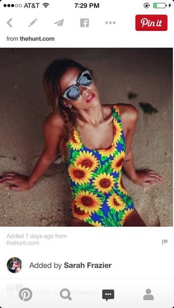 swimwear floral one piece swimsuit floral swimwear style sunglasses