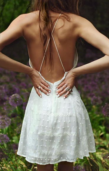 backless short dress white dress backless dress white backless dress