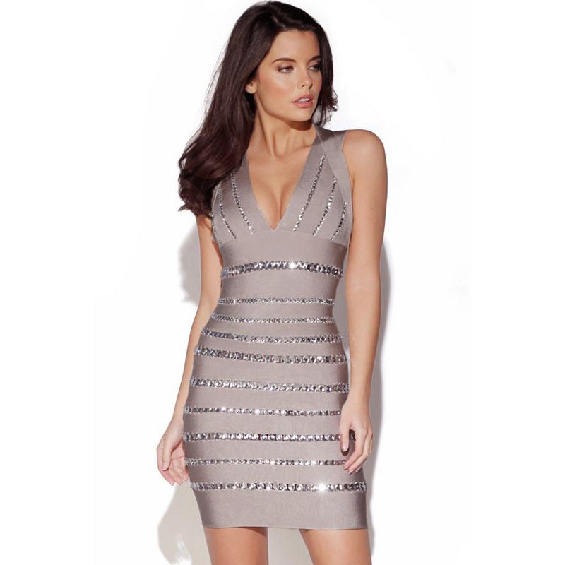 Apricot Sylvie van In Diamante Embellished Bandage Dress H355X$139