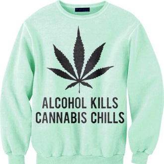 marijuana alcohol weed sweater