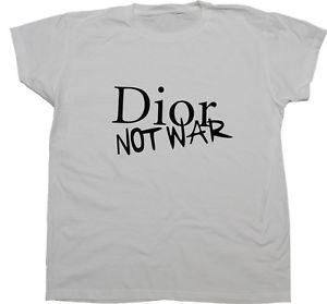 Dior NOT WAR Woman Shirt Parody Woman T Shirt | eBay