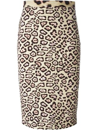 skirt pencil skirt women spandex nude print leopard print