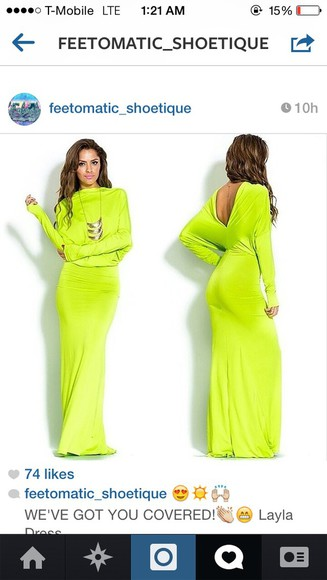 long dress summer dress elegant lime green style dresses,summer,cute backless dress