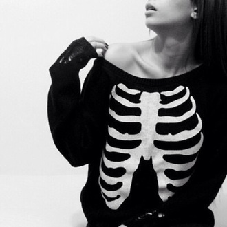 jumpsuit black skull skeleton white