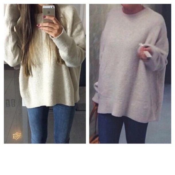 sweater nude zara pullover