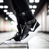 shoes,acronym x nikelab air force 1 downtown,nike,sneakers,nike sneakers,nike shoes,high top sneakers