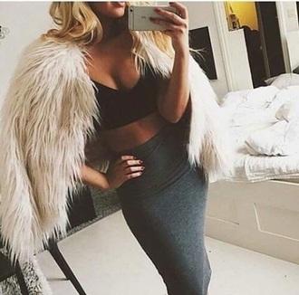 dress fur fur coat coat slimmed sexy fashion women black dress sexy dress slim dress elegant