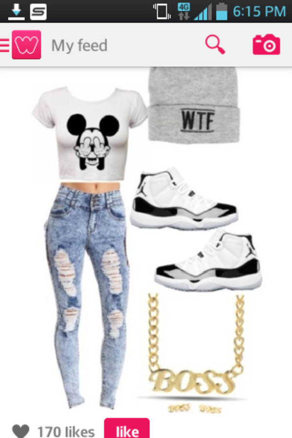 mickey mouse shirt hoodie jeans jordans blouse