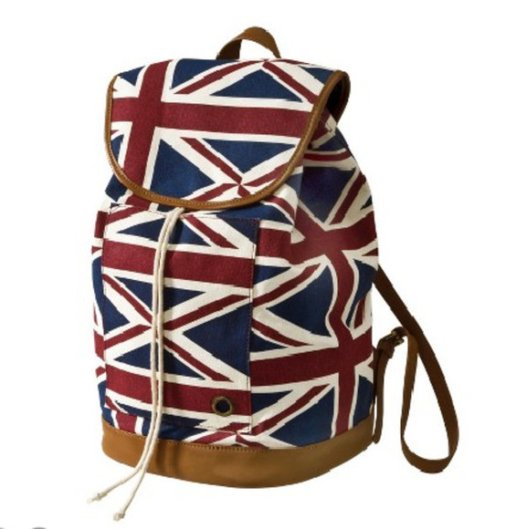 union jack london england bag backpack leather