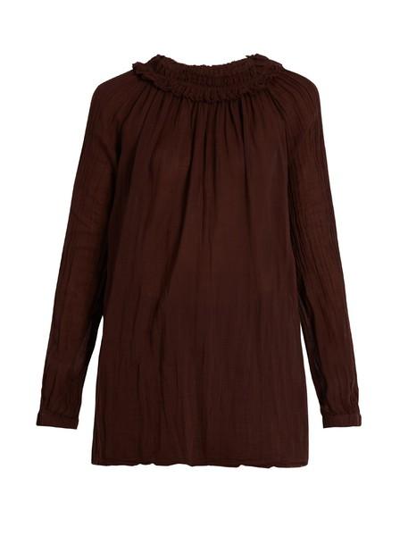 Raquel Allegra blouse long burgundy top