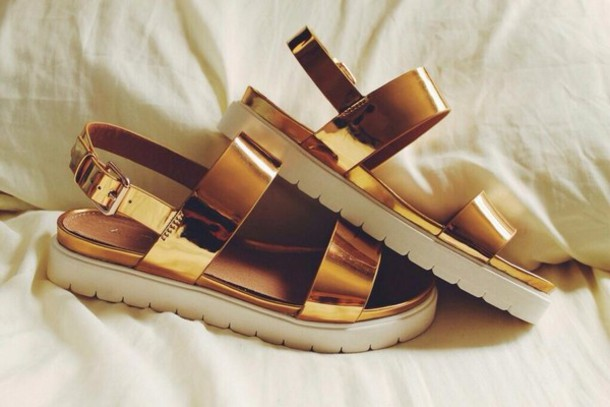 shoes gold sandals platform sandals gold sandals track sole faltform sandals