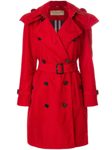 Burberry coat trench coat women cotton red