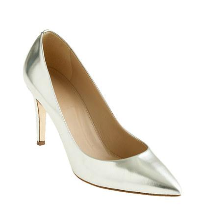 Everly mirror metallic pumps - evening - Women's shoes - J.Crew