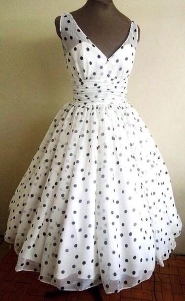 f1854199eb43 dress, black and white, polka dots dress - Wheretoget