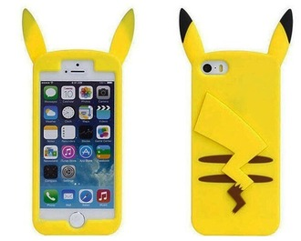 home accessory pikachu case pikachu case for iphone 6 pikachu pikapika iphone case iphone 6 case yellow pokemon phone cover