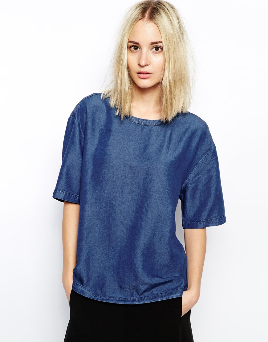 Weekday Denim T-Shirt at asos.com
