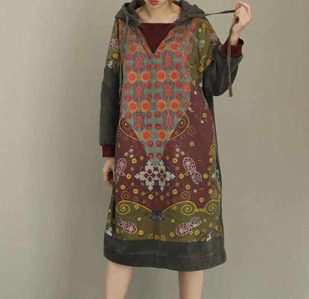 dress Hooded dress maxi dress