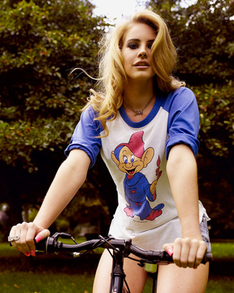 shirt top white lana del rey snow white blue