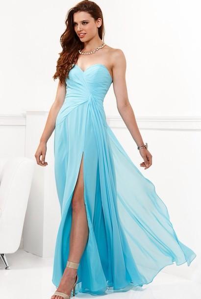 dress prom dress blue