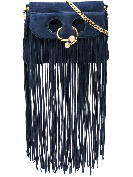 J.W.Anderson women blue suede bag